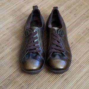 Born Antique Gold Patent Leather Sneakers